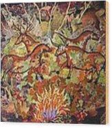 Cave Paintings Wood Print