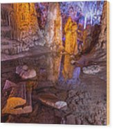 Cave Reflection Wood Print