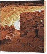 Cave Ruin 2 Wood Print