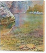 Cave Springs Wood Print