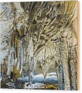 Cave Wall Formations Wood Print