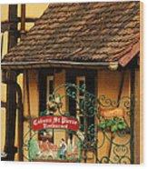 Caveau St Pierre Sign In Colmar France Wood Print