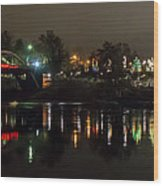 Caveman Bridge And Taprock At Christmas - Panorama Wood Print