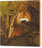Cavern Aglow Wood Print