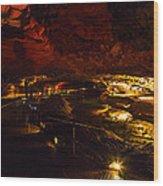 Cavern River Wood Print
