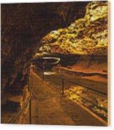 Cavern River Path Wood Print