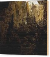 Caves Of Isla Colon Wood Print