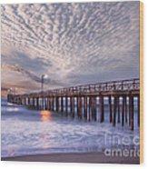 Cayucos Pier Wood Print