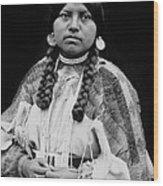 Cayuse Woman Circa 1910 Wood Print