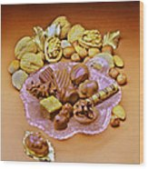 Cchocolates And Sweets Wood Print