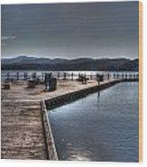 Cd'a Lake Walkway Wood Print