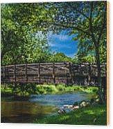 Cedar Creek Bridge Wood Print