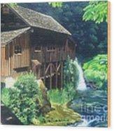 Cedar Creek Grist Mill Wood Print by Cireena Katto