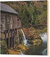 Cedar Creek Grist Mill Wood Print