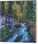Cedar Creek Grist Mill Wood Print by Puget  Exposure