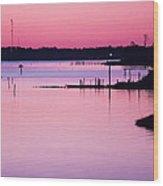 Cedar Island Pinks Wood Print