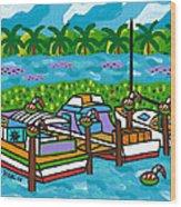 Cedar Key Bayou Wood Print