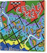 Cedar Key Chart Wood Print