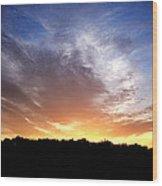 Cedar Lake Sunset Wood Print