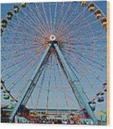 Cedar Point Sunday Wood Print