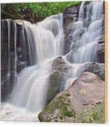 Cedar Rock Creek Falls Wood Print