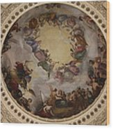 Ceiling Fresco - Cupola Capitol Washington Dc Wood Print