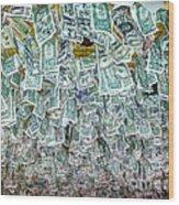 Ceiling Of Dollar Bills  Wood Print