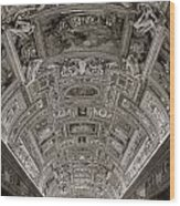 Ceiling Of Hall Of Maps Wood Print