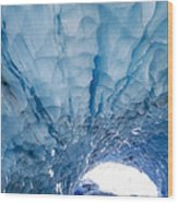 Jagged Ceiling Of Paradise Ice Cave Wood Print