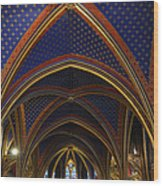 Ceiling Of The Sainte-chapelle  Paris Wood Print