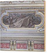 Ceiling Study Chateau De Chantilly Wood Print