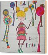 Celebrating Color Wood Print by Mary Kay De Jesus