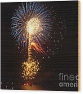 Celebrating The 4th At The Lake 2 Wood Print