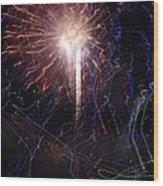 Celebration Fireworks Grand Lake Co 2007 Wood Print