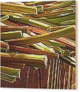 Celery In The Sun Wood Print