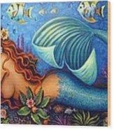 Celeste The Goddess Of The Sea Wood Print