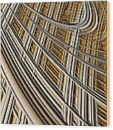 Celestial Harp Wood Print by John Edwards