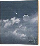 Celestial Night Wood Print