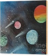 Celestial Planets Wood Print