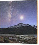 Celestial Sky With Milky Way Galaxy Wood Print