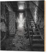 Cell Block - Historic Ruins - Penitentiary - Gary Heller Wood Print