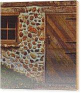 Cellar Door In The Mist Wood Print by Jack Zulli