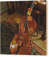 Cello Autumn 1 Wood Print