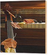 Cello Autumn 2 Wood Print
