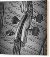 Cello Classic Art Wood Print