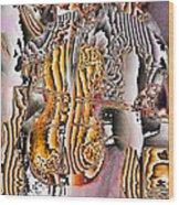 Cello Man Wood Print