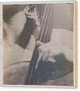 Cello Player Wood Print