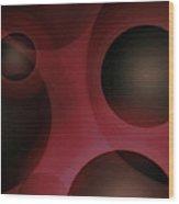 Cellular Construct Wood Print