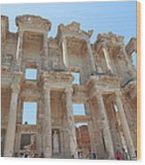 Celsus Library In Ephesus Wood Print
