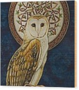 Celtic Barn Owl Wood Print